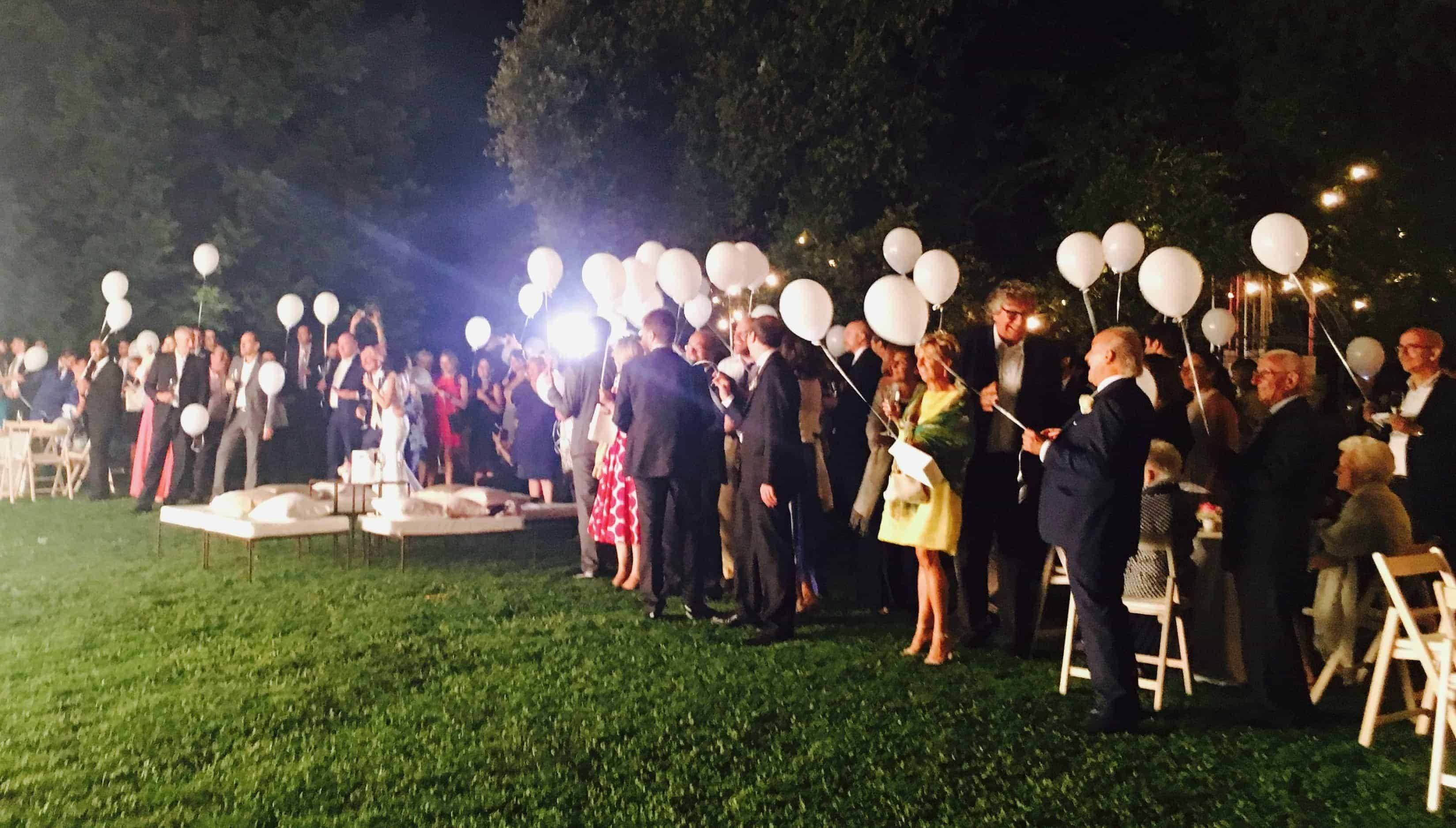 fireworks lightbaloon italian wedding - Luxury Wedding Gallery