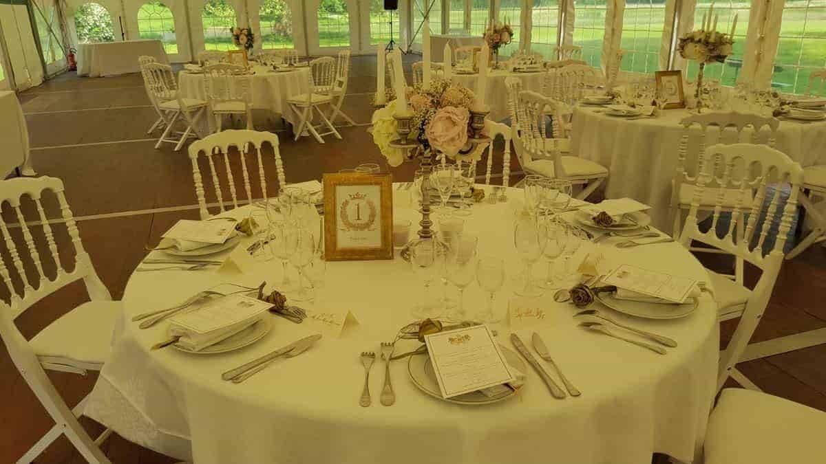 destination wedding france cheronne castle honor table white chair - Luxury Wedding Gallery