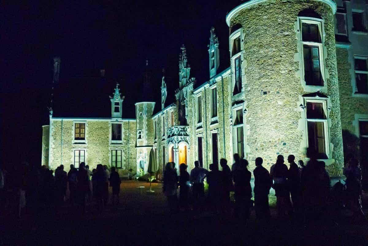 destination wedding france cheronne castle night outdoor party - Luxury Wedding Gallery