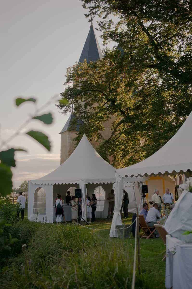 destination wedding france cheronne castle outdoor buffet catering - Luxury Wedding Gallery