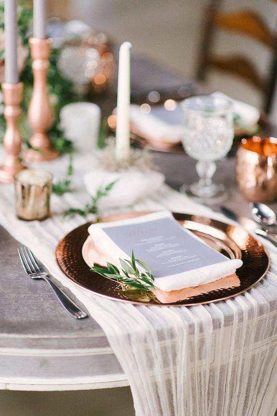 Classy Copper – Wedding Colour Theme