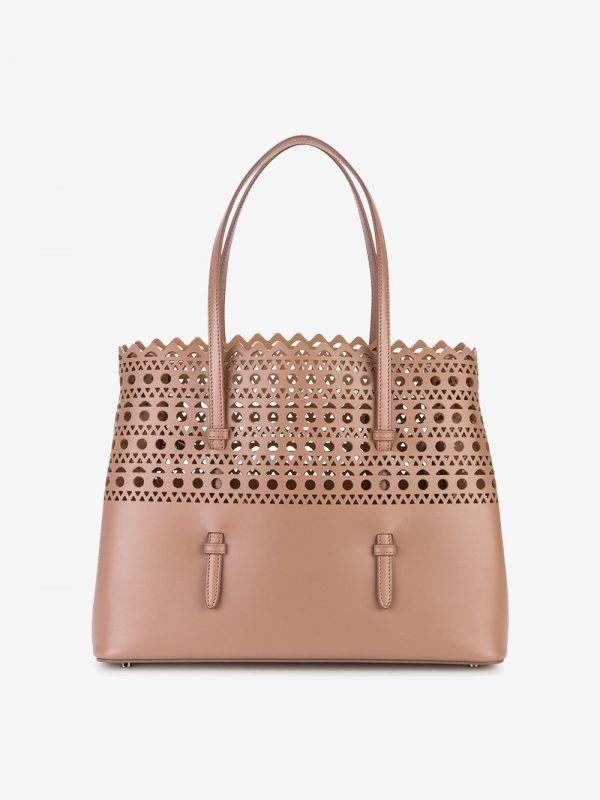 Alaïa Pink perforated Small tote bag