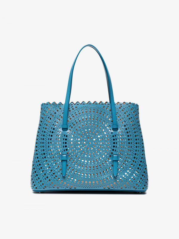 Alaïa blue Vienne Medium leather tote bag