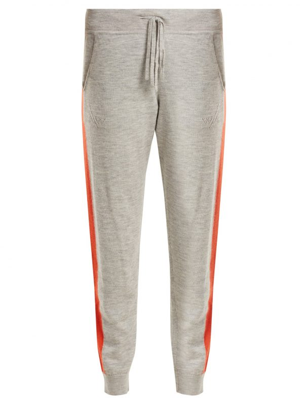 Aldridge side-stripe cashmere track pants