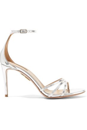 Aquazzura - Very Purist Mirrored-leather Sandals - Silver