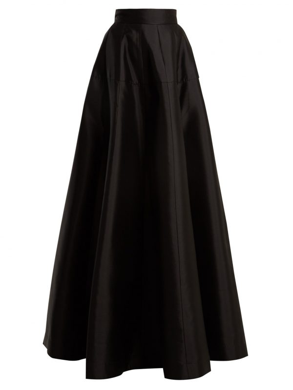Atelier wool-blend satin maxi skirt