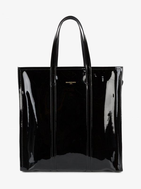 Balenciaga Black Bazar Shopper Patent Leather Tote Bag