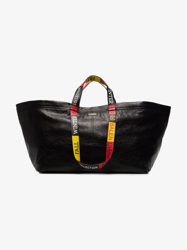 Balenciaga Black Carry large leather tote bag