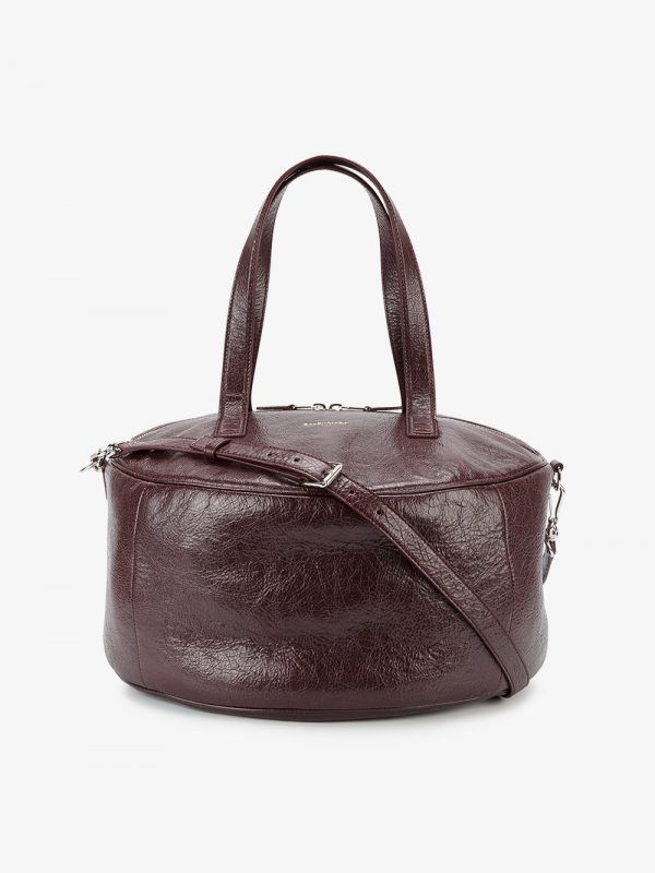 Balenciaga Burgundy Air Hobo Medium Leather Tote Bag