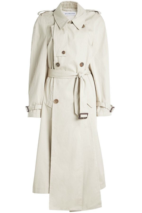 Balenciaga Panel Cotton Trench