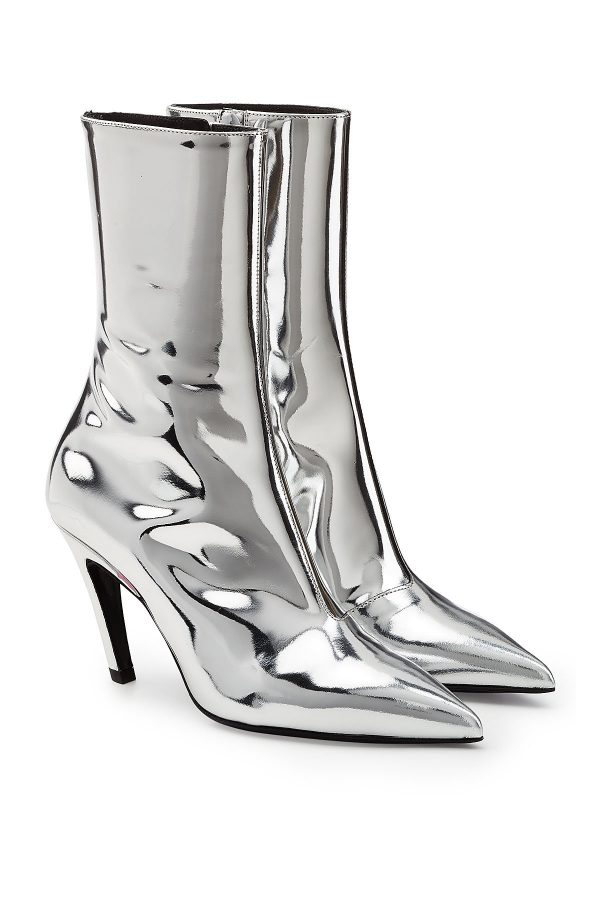 Balenciaga Talon Mirrored Leather Ankle Boots