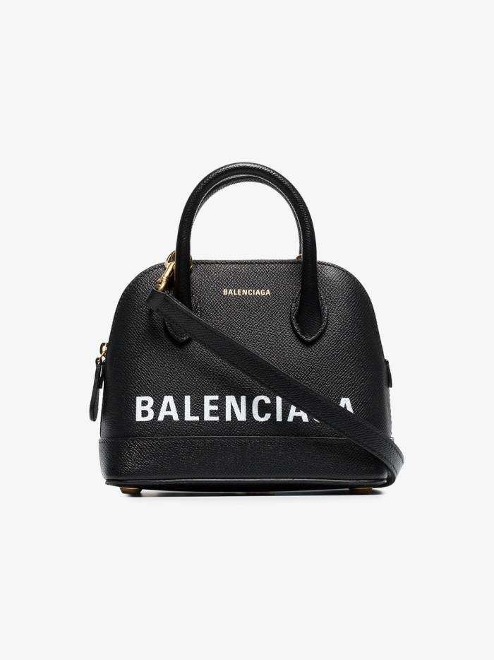 Balenciaga black ville XXS leather top handle bag