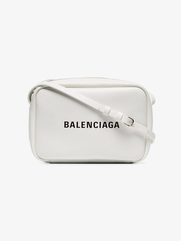 Balenciaga white Everyday small leather camera bag