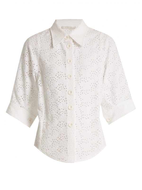 Broderie-anglaise shirt