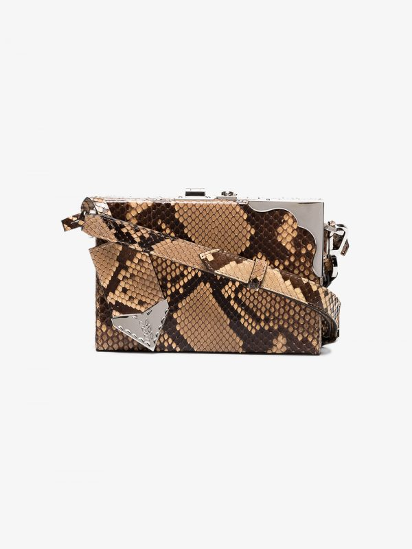 Calvin Klein 205W39nyc brown mini box python bag