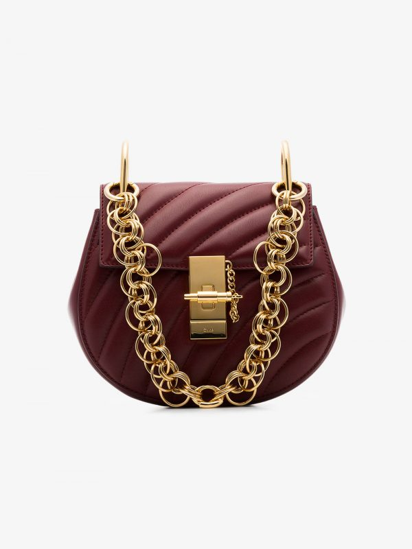 Chloé Claret Red Drew Bijou Quilted Leather Bag