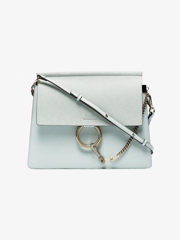 Chloé Grey Faye Leather shoulder bag