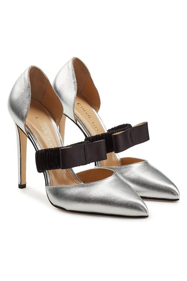Chloe Gosselin Lily Metallic Leather Pumps