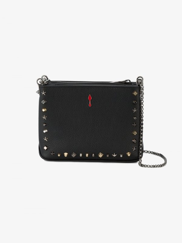 Christian Louboutin Black Triloubi Trashmix Leather Shoulder bag