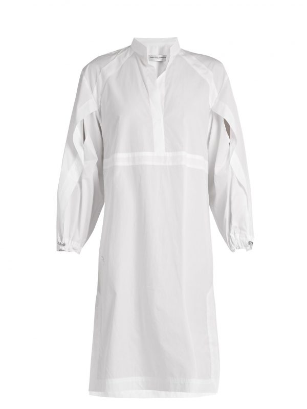 Cotton-poplin shirtdress