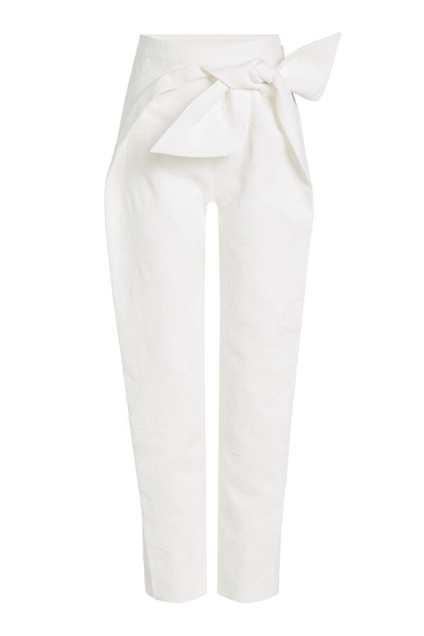 Delpozo Bow-Front Cotton Trousers