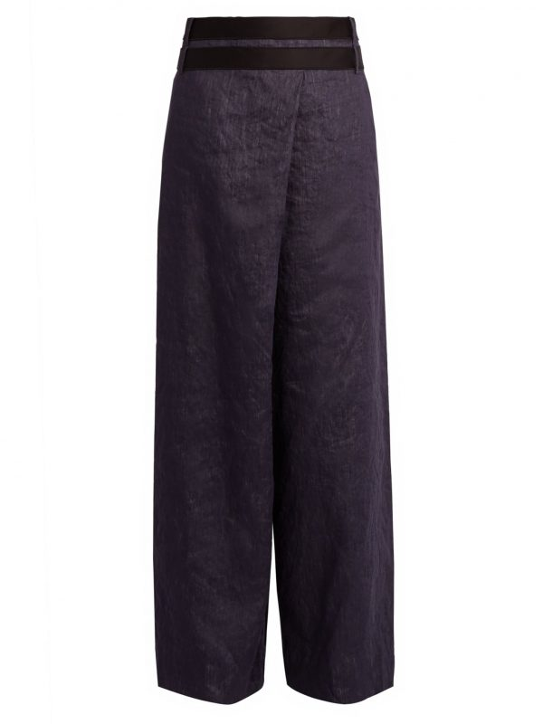 Echo wide-leg denim trousers
