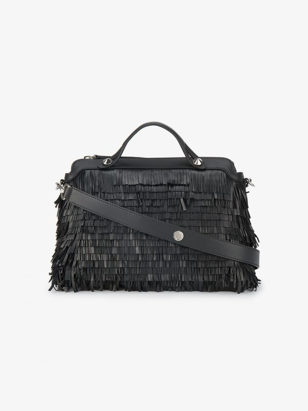 Fendi By The Way fringed Boston bag