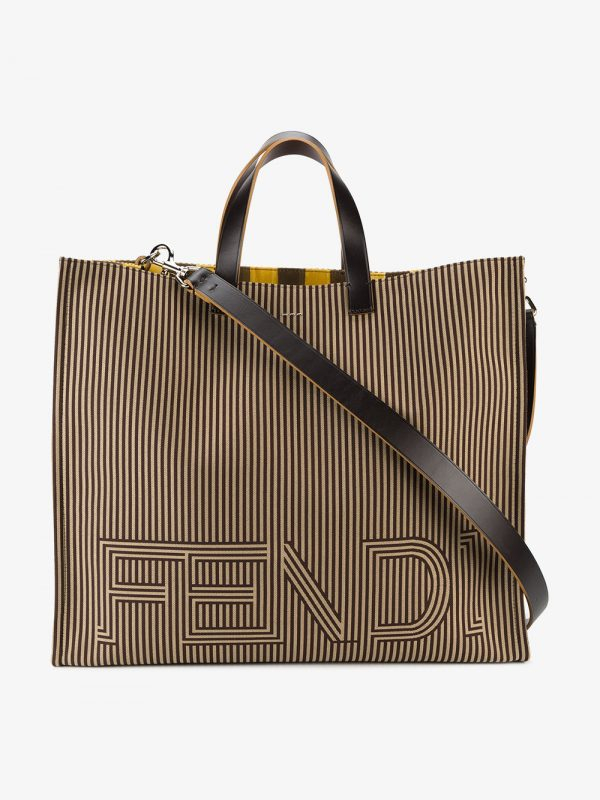 Fendi large logo tote bag
