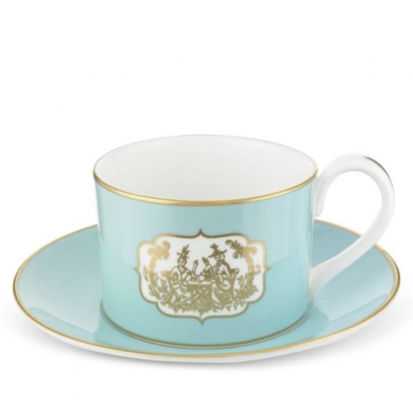 Fortnum & Mason St James Eau De Nil China Teacup & Saucer
