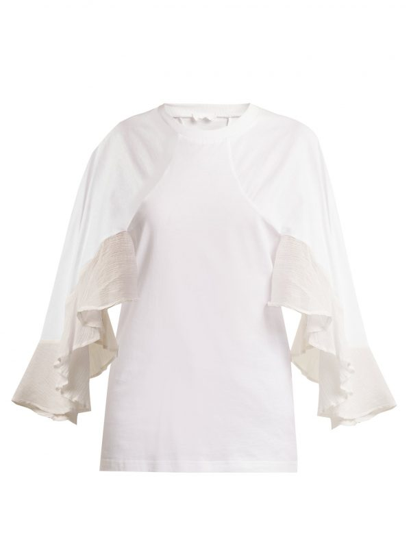 Frilled cotton top
