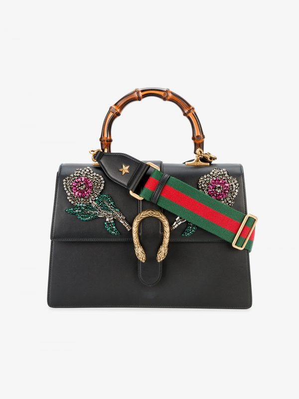Gucci Black Dionysus embellished Large Tote bag