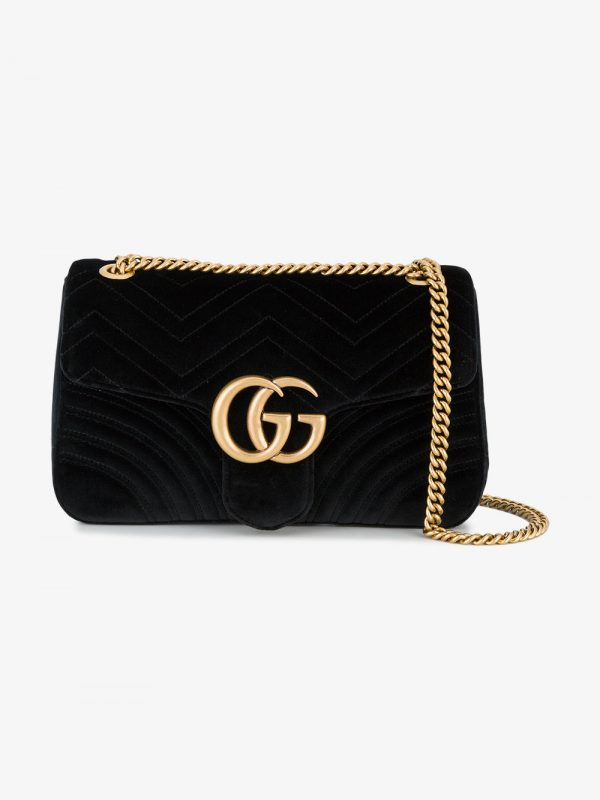 Gucci Marmont 2.0 Velvet Shoulder Bag