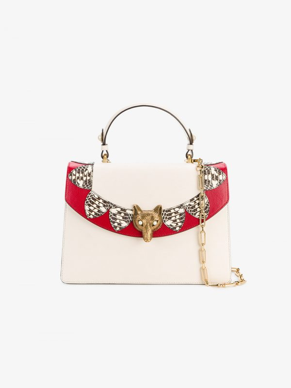 Gucci White Loved Linea Medium Tote Bag