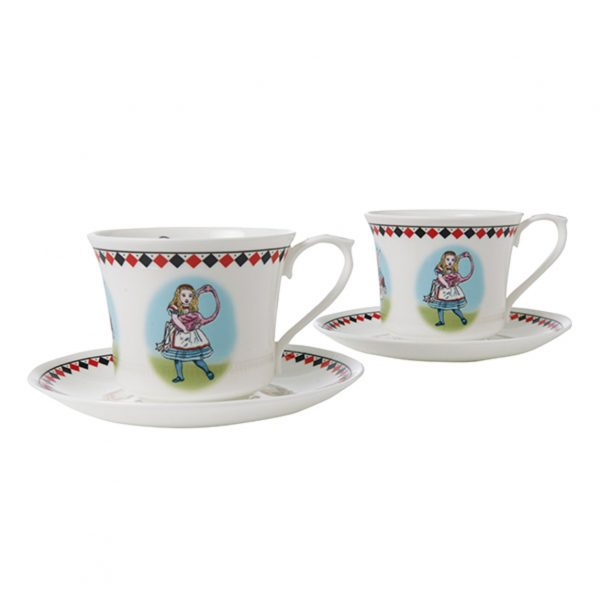 Halcyon Days Alice In Wonderland Tea Cup & Saucer