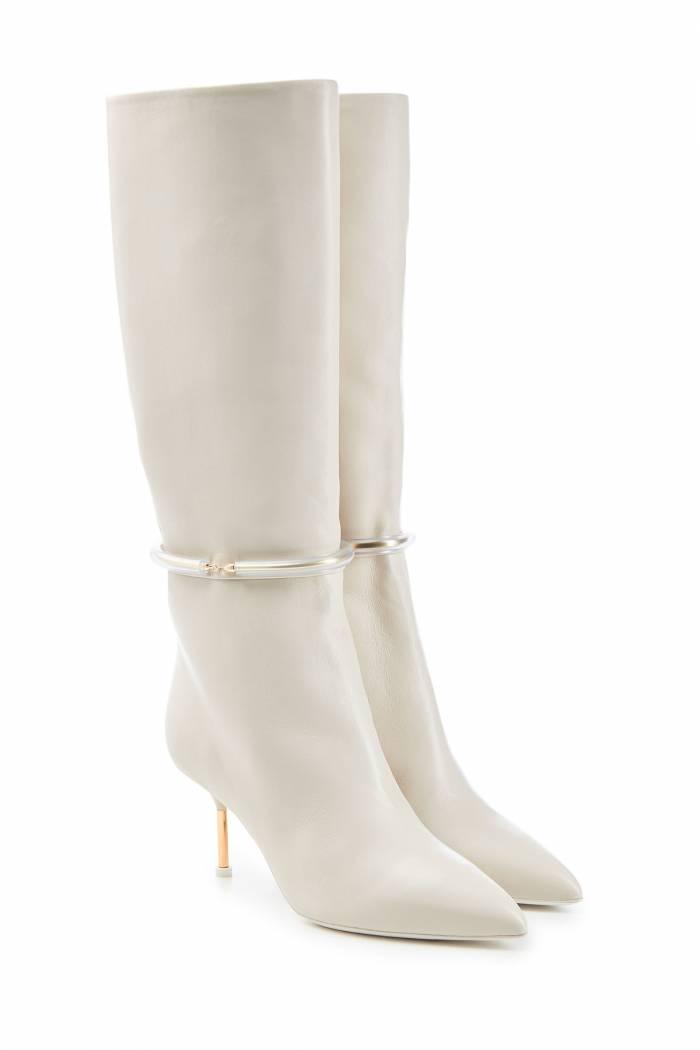 Jil Sander Leather Knee Boots
