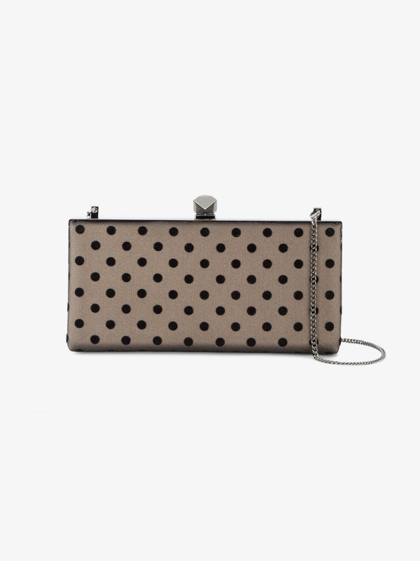 Jimmy Choo Polka Dot Celeste clutch bag