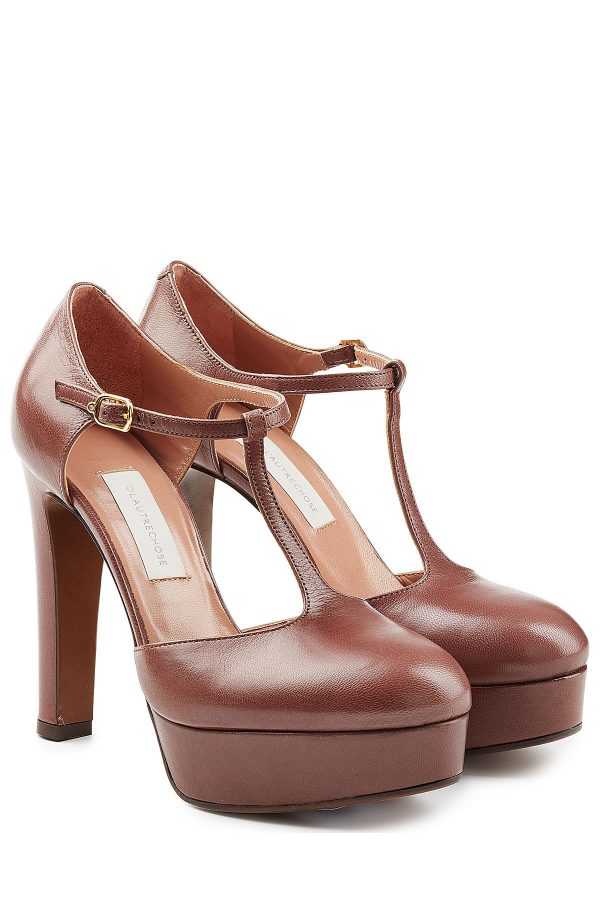 L'Autre Chose Platform Leather Pumps