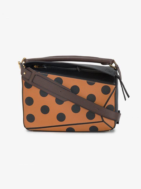 Loewe Polka Dot Puzzle leather shoulder bag