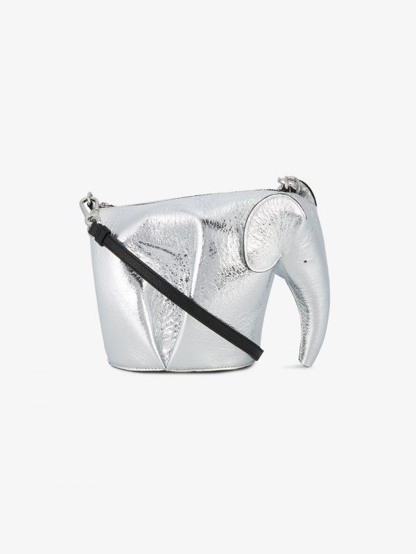 Loewe Silver Elephant mini leather bag