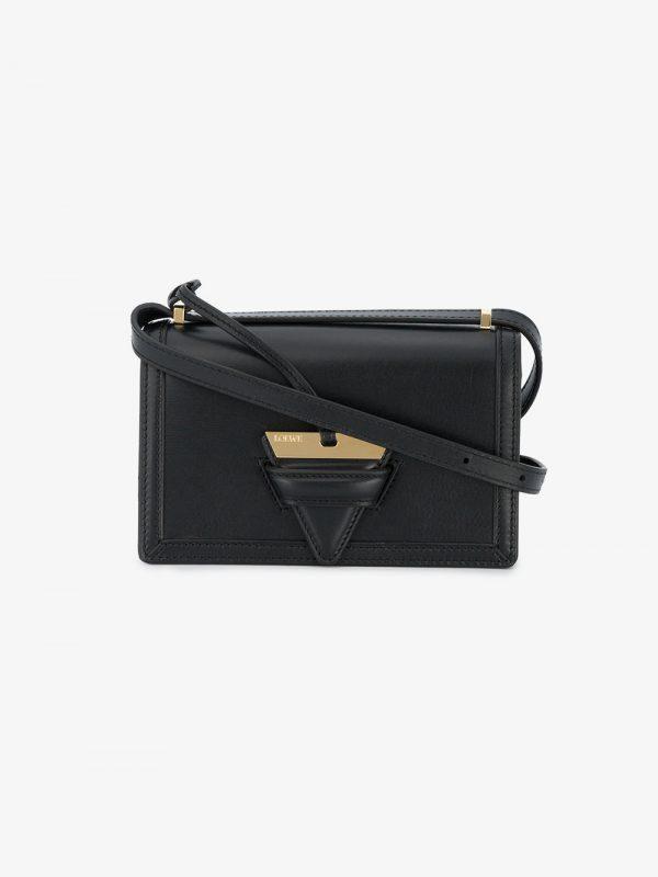 Loewe black Barcelona Leather shoulder bag