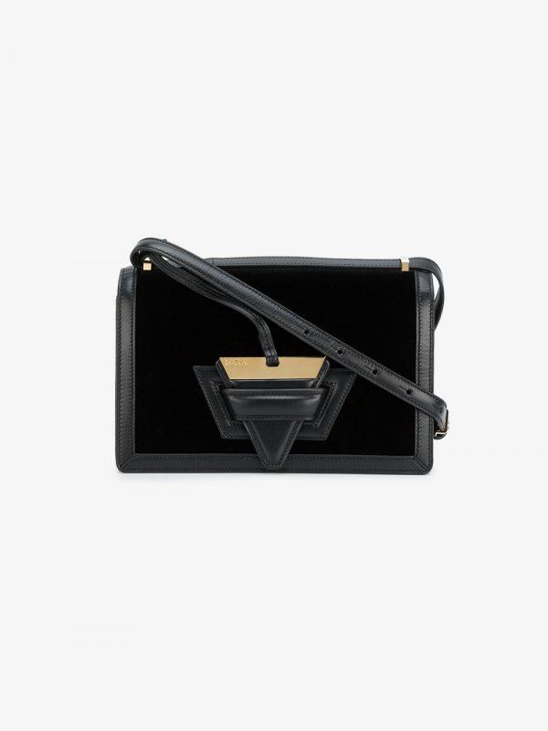 Loewe black Barcelona velvet box bag