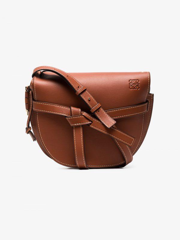 Loewe brown Gate leather shoulder bag