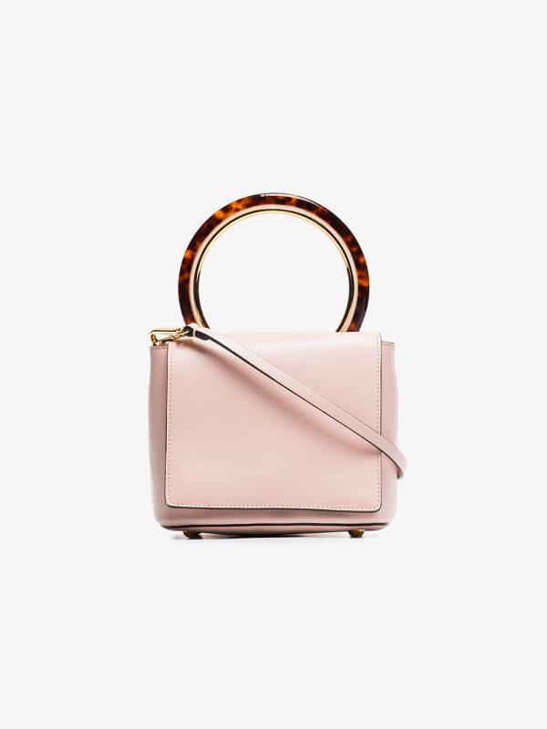 Marni Pink pannier leather resin handle crossbody bag
