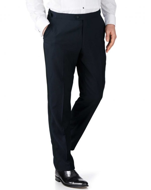Midnight Blue Slim Fit Tuxedo Trousers Size W32 L32 by Charles Tyrwhitt
