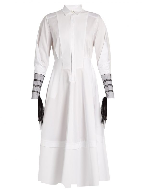 Muse cotton-poplin shirtdress
