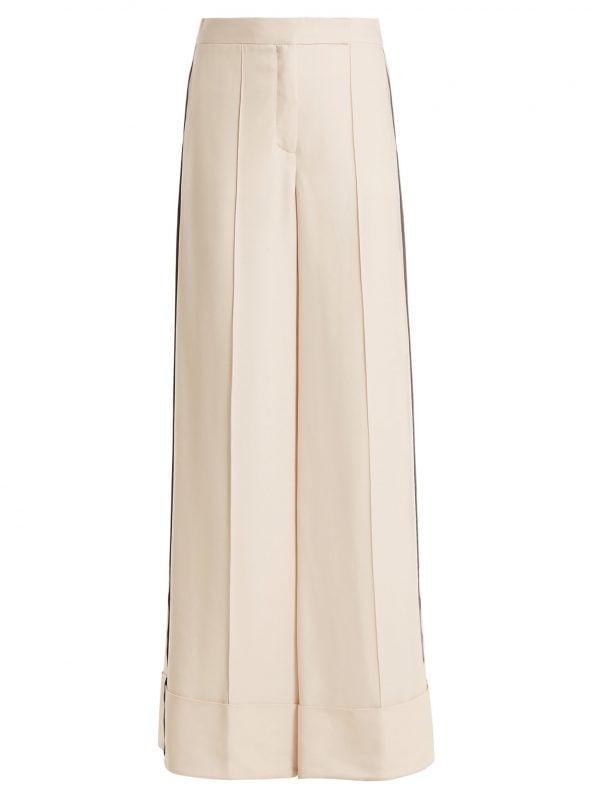 Naha wide-leg stripe-detail trousers