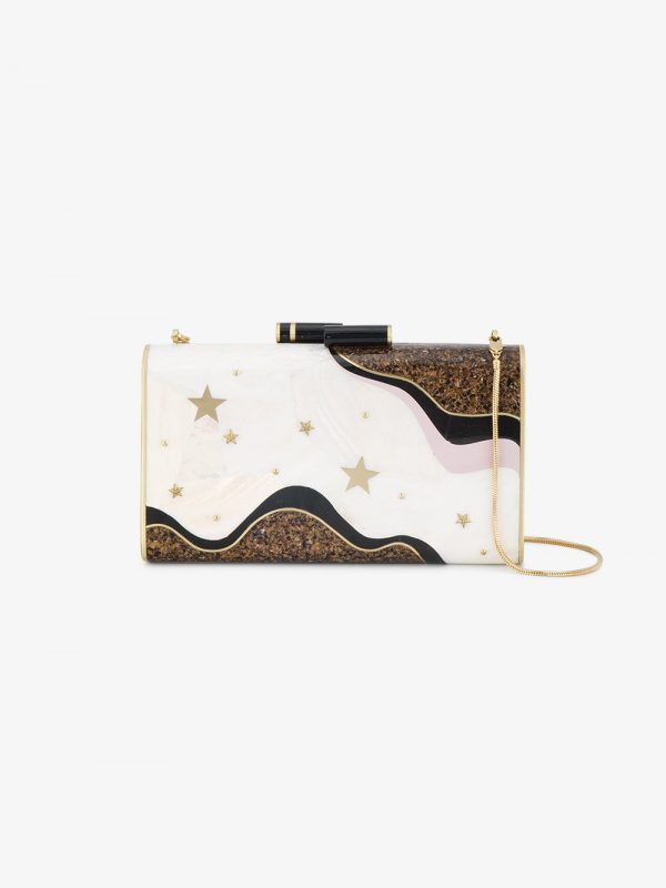 Nathalie Trad Ellery stars and moons clutch bag