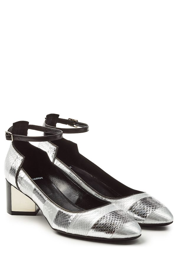 Pierre Hardy Leather and Snakeskin Mary-Janes