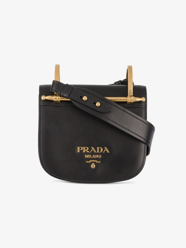 Prada Black Pionniere Leather cross body bag