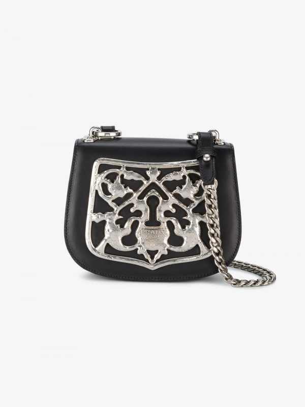 Prada Piastra Metal Filigree cross body bag